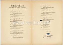 Ehrenblatt des deutschen Heeres - Ausgabe vom 5. Oktober 1942