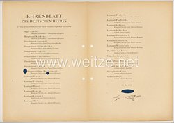 Ehrenblatt des deutschen Heeres - Ausgabe vom 25. Mai 1942