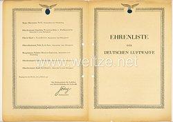 Ehrenliste der Deutschen Luftwaffe - Ausgabe vom 9. Februar 1942