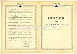 Ehrenliste der Deutschen Luftwaffe - Ausgabe vom 24. August 1942