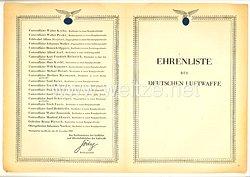 Ehrenliste der Deutschen Luftwaffe - Ausgabe vom 16. November 1942
