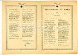 Ehrenliste der Deutschen Luftwaffe - Ausgabe vom 25. Juni 1943
