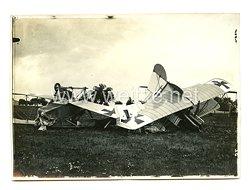 1. Weltkrieg Deutsches Kaiserreich Luftstreitkräfte Foto, verunglückte Jagdflugzeuge
