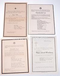 Wehrmacht Konvolut von Trauernachrichten