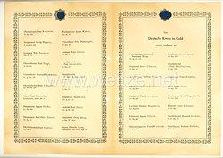 Verleihungsliste für das Deutsche Kreuz in Gold - April 1944