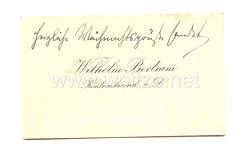 Kaiserliche Marine Visitenkarte des Konteradmiral. z. D. Wilhelm Bertram