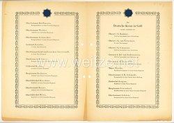 Verleihungsliste für das Deutsche Kreuz in Gold - Januar 1943