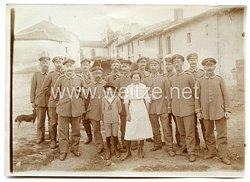 1. Weltkrieg Gruppenfoto: Unteroffiziere der Reserve in der Etappe