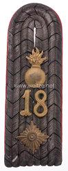 Preußen Einzel Schulterstück für einen Oberleutnant im Feldartillerie-Regiment General-Feldzeugmeister (2. Brandenburgisches) Nr. 18