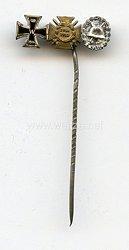 Miniaturspange 1. Weltkrieg - 3 Auszeichnungen