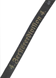 """Kriegsmarine Mützenband """"4. Zerstörerdivision 4."""""""
