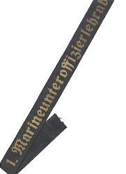 """Mützenband """" 1. Marineunteroffizierlehrabteilung.1. """""""