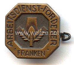"""Nationalsozialistischer Arbeitsdienst ( NSAD ) -Förderer-Abzeichen """" Franken """""""