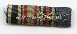 Bandspange eines hessischen Veteranendes 1. Weltkriegs und späteren Beamten