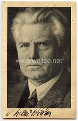 III. Reich - Originalunterschrift von Dr. Artur Dinter