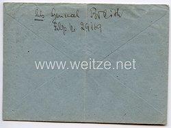 Heer - Originalunterschrift von Ritterkreuzträger General der Panzertruppe Hermann Breith