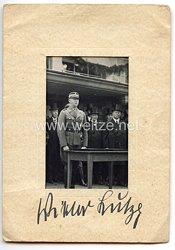 III. Reich - Originalunterschrift von Chef des Stabes der S.A. Viktor Lutze
