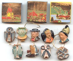 WHW - Gau 22 : Oberdonau - Konvolut von 12 Abzeichen verschiedener Sammlungen