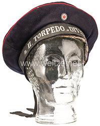 Kaiserliche Marine dunkelblaue Tellermütze für Mannschaften der