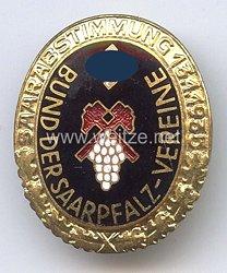 """III. Reich - Bund der Saarpfalzvereine - Goldenes Ehrenzeichen """" Saarabstimmung 13.1.1935 """""""