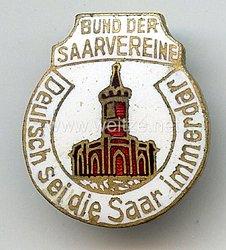 """III. Reich - Bund der Saarvereine """" Deutsch sei die Saar immerdar """""""