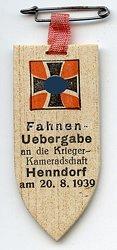 III. Reich - Fahnenuebergabe an die Kriegerkameradschaft Henndorf am 20.8.1939