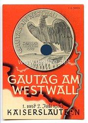 """III. Reich - farbige Propaganda-Postkarte - """" Gautag am Westwall - 1. und 2. Juli 1939 Kaiserslautern """""""