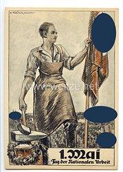 """III. Reich - farbige Propaganda-Postkarte - """" 1. Mai - Tag der Nationalen Arbeit 1934 """""""