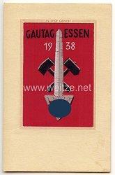 """III. Reich - farbige Propaganda-Postkarte - """" Gautag 1938 der NSDAP Gau Essen """""""