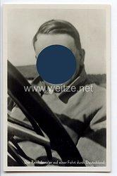 """III. Reich - Propaganda-Postkarte - """" Adolf Hitler - Der Reichskanzler auf einer Fahrt durch Deutschland """""""