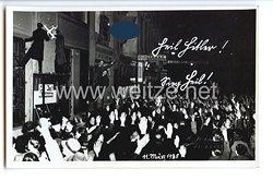 """III. Reich - Propaganda-Postkarte - """" Heil Hitler ! Sieg Heil ! 11. März 1935 """""""