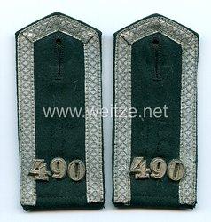 Wehrmacht Heer Paar Schulterklappen für einen Unteroffizier im Infanterie Rgt.490