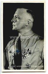 III. Reich - Portraitpostkarte von  Gauleiter von München Adolf Wagner