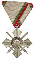 Bulgarien Zivilverdienst-Orden 1944-1946 6. Stufe Silbernes Verdienstkreuz mit Schwertern