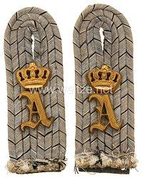 Oldenburg Paar Schulterstücke Feldgrau für einen Leutnant im Oldenburgischen Dragoner-Regiment Nr. 19