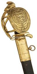 Königreich Dänemark Offiziers-Pallasch für Kürassiere aus der Zeit König Friedrich VII. 1848-1863)