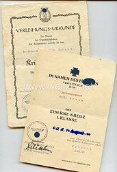 Kriegsmarine - Urkundenpaar für einen Bootsmannsmaaten