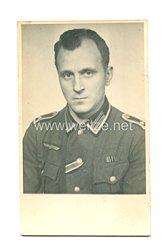 Wehrmacht Heer Portraitfoto, Feldwebel mit Bandspange