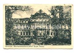 Reichsarbeitsdienst (RAD) - Postkarte, RAD Karlsruhe