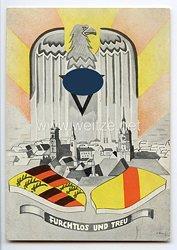 """III. Reich - farbige Propaganda-Postkarte - """" Furchtlos und treu """""""