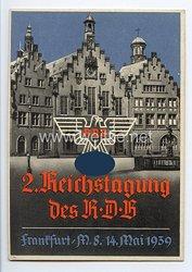 """III. Reich - farbige Propaganda-Postkarte - """" 2. Reichstagung des RDB in Frankfurt a.M. vom 8.-14. Mai 1939 """" ( Reichsbund Deutscher Beamter )"""