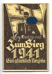 """III. Reich - Propaganda-Postkarte - """" Zum Sieg 1941 - Ein glückliches Neujahr """""""