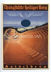 "III. Reich - farbige Propaganda-Postkarte - "" Thingstätte Heiliger Berg - Heidelberg """
