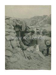 1. Weltkrieg Deutsches Heer Foto, Soldat im Schützengraben