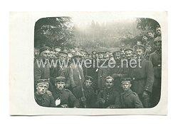 1. Weltkrieg Deutsches Heer Foto, Deutsche Soldaten mit französischen Kriegsgefangenen