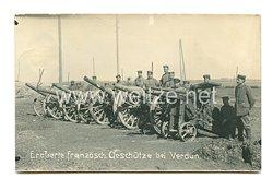 1. Weltkrieg Deutsches Heer Foto, Eroberte französische Geschütze bei Verdun