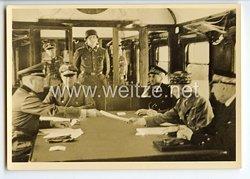 """III. Reich - Propaganda-Postkarte - """" Compiègne 1940 - Generaloberst Keitel überreicht die Waffenstillstandsbedingungen """""""
