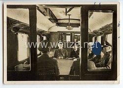 """III. Reich - Propaganda-Postkarte - """" Compiegne 1940 - In Erwartung der französischen Delegation """""""