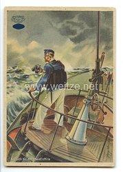 "NSKK-Motorbootstandarten - farbige Propaganda-Postkarte - "" Ausguck bei der Rheinflottille """