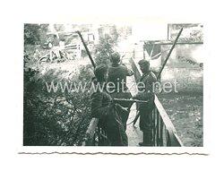 Wehrmacht Heer Foto, Deutsche Soldaten schließen die deutsch-französische Grenze 1939